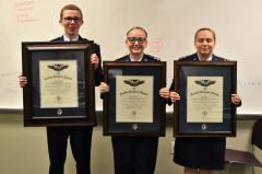 3 cadets hold awards