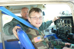 C/AB Robertson on his first orientation flight in April 2009.